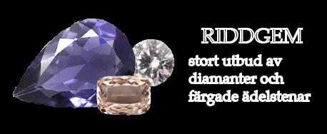 Riddgem-diamanter & ädelstenar på nätet, och nytt diamantsmycken